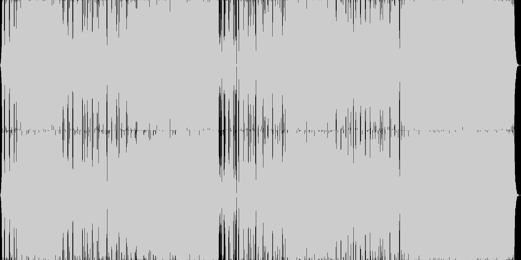 おしゃれでクールなパワフルロックの未再生の波形