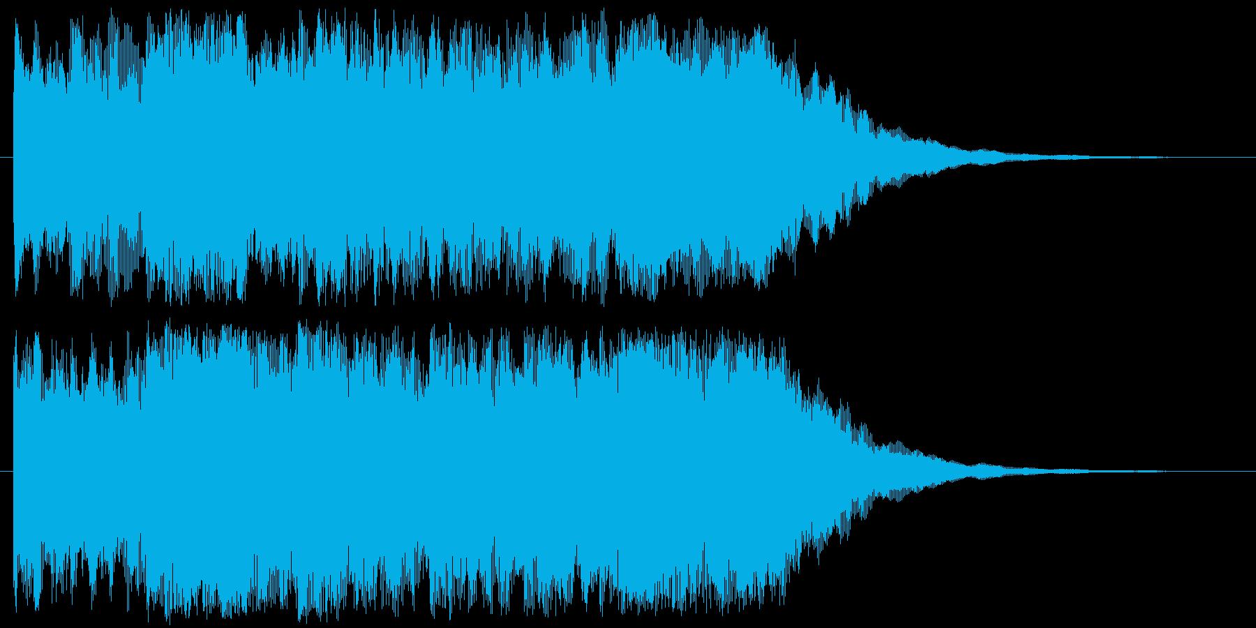 チャイム系な音の再生済みの波形