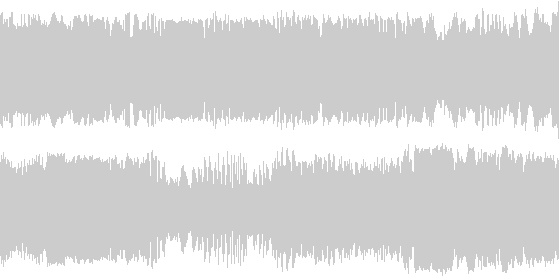 セスナの離陸音と飛行中の音の未再生の波形