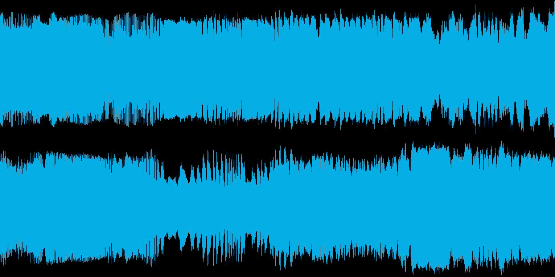 セスナの離陸音と飛行中の音の再生済みの波形