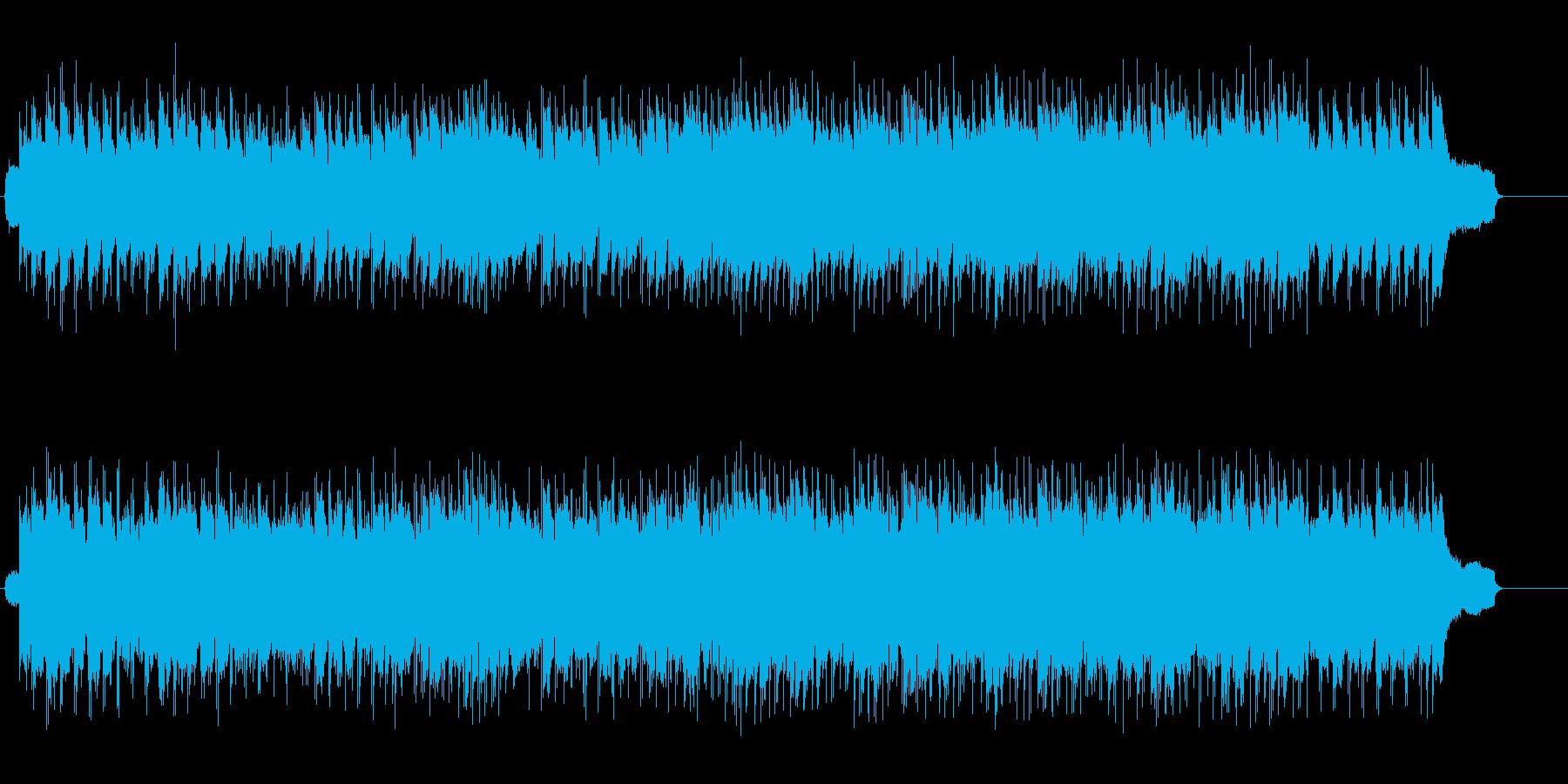 リラックスしたロード・ウェイ・フォーク風の再生済みの波形