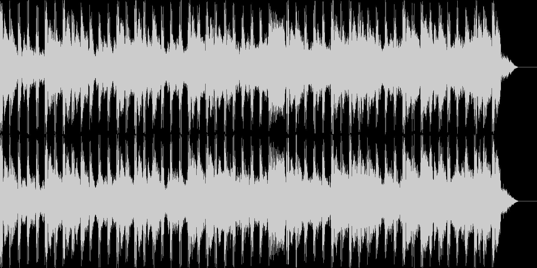 エンディングを感じるBGMの未再生の波形