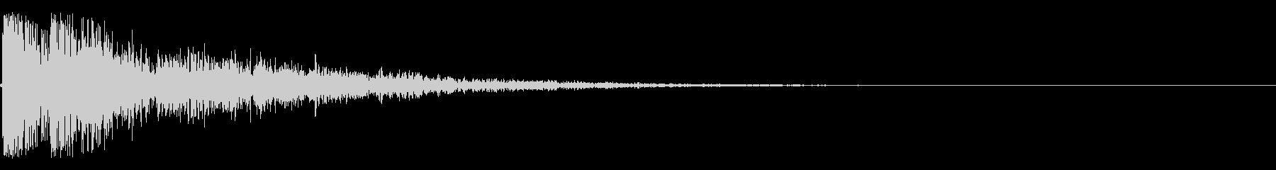 カコーンという余韻短めの木の和風SEですの未再生の波形
