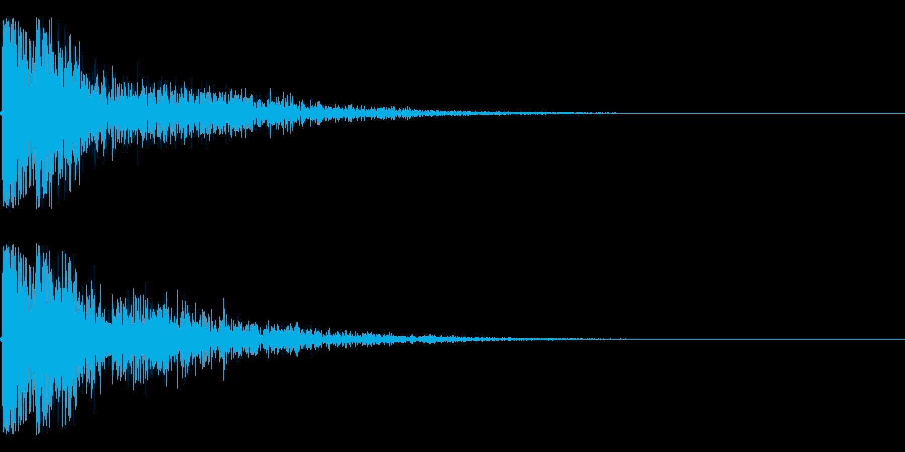 カコーンという余韻短めの木の和風SEですの再生済みの波形