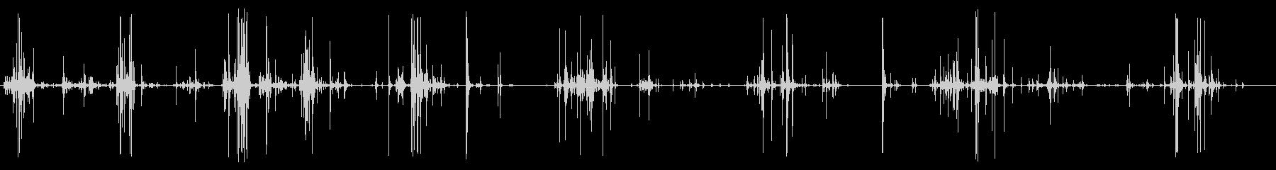 壊れそうな床の上を歩く音(パリパリ)の未再生の波形