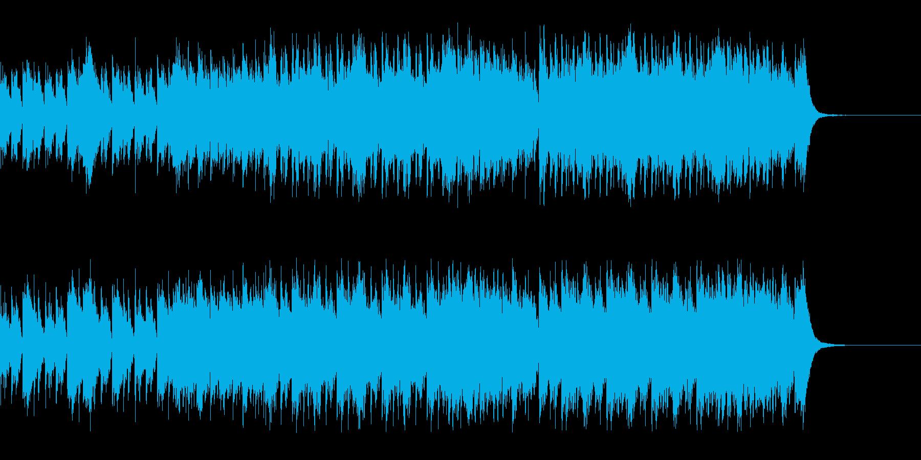 ゆるく、気まぐれな雰囲気のBGMの再生済みの波形