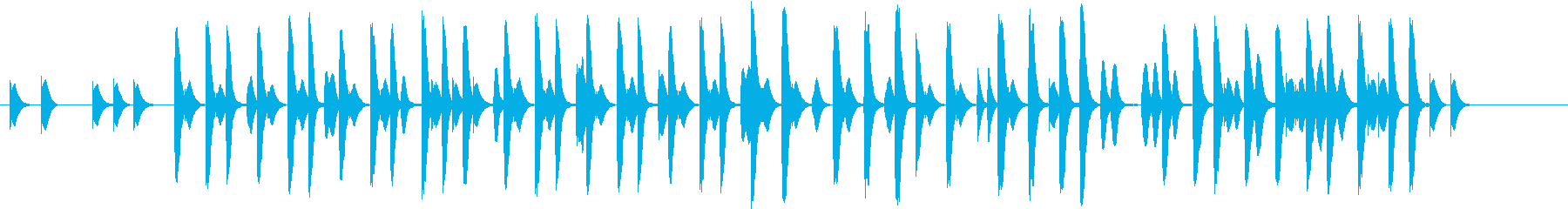 コミカルな場面で使えそうな木琴の曲の再生済みの波形