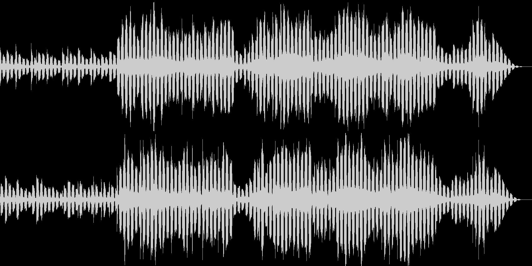 やさしい雰囲気のエレピソロの未再生の波形