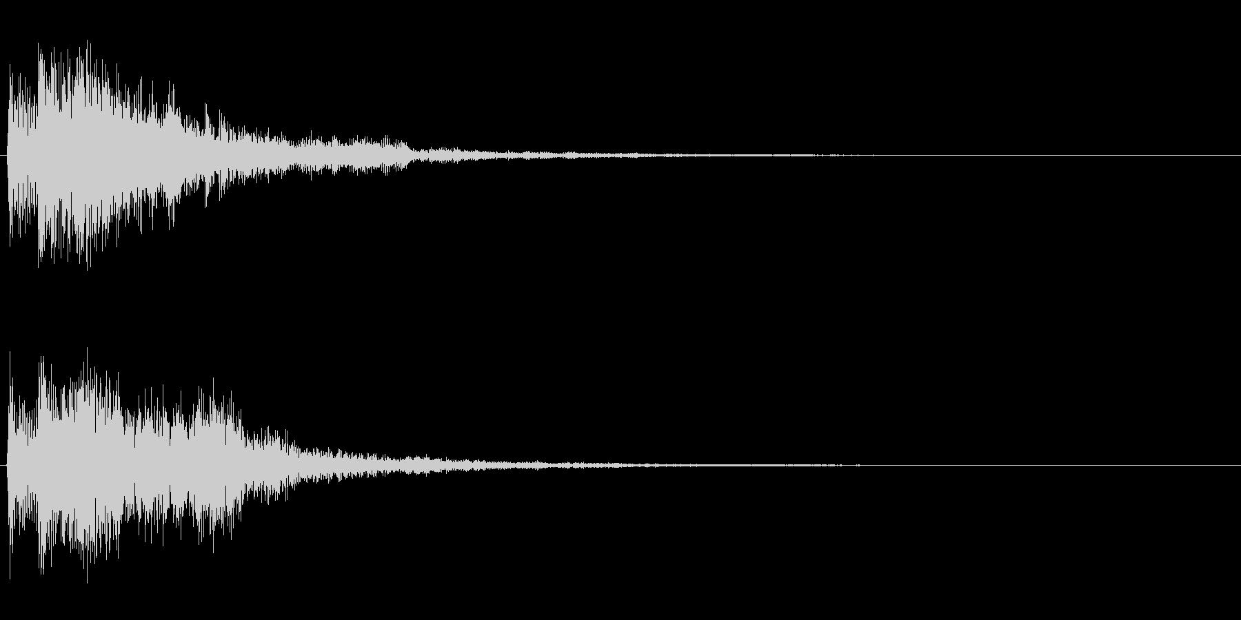 【SE 効果音】不安な音の未再生の波形