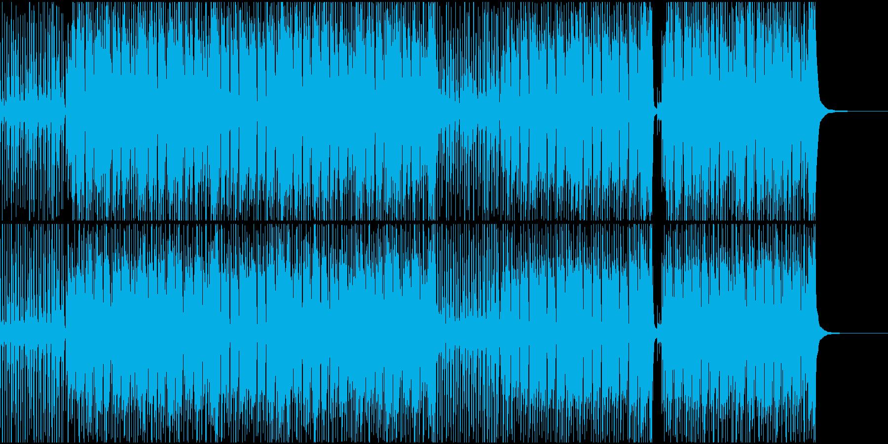映像BGMユーチューブ風汎用性高ハッピーの再生済みの波形