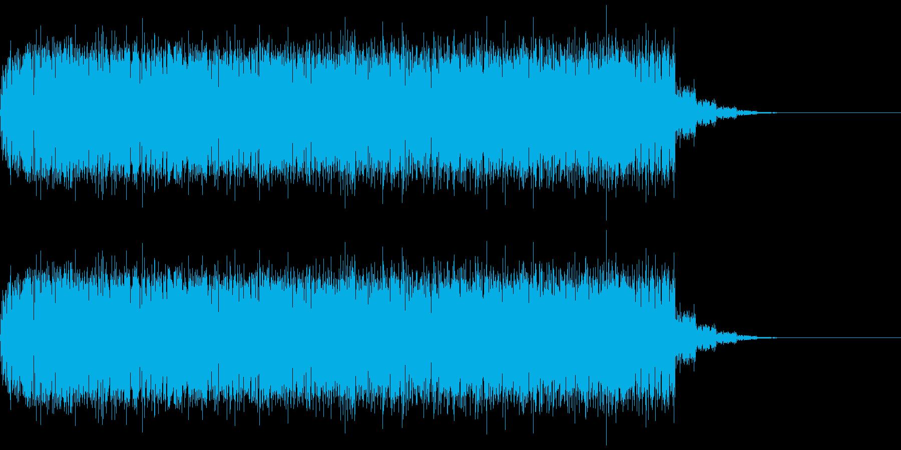 大量のコウモリが飛んでいるような効果音の再生済みの波形