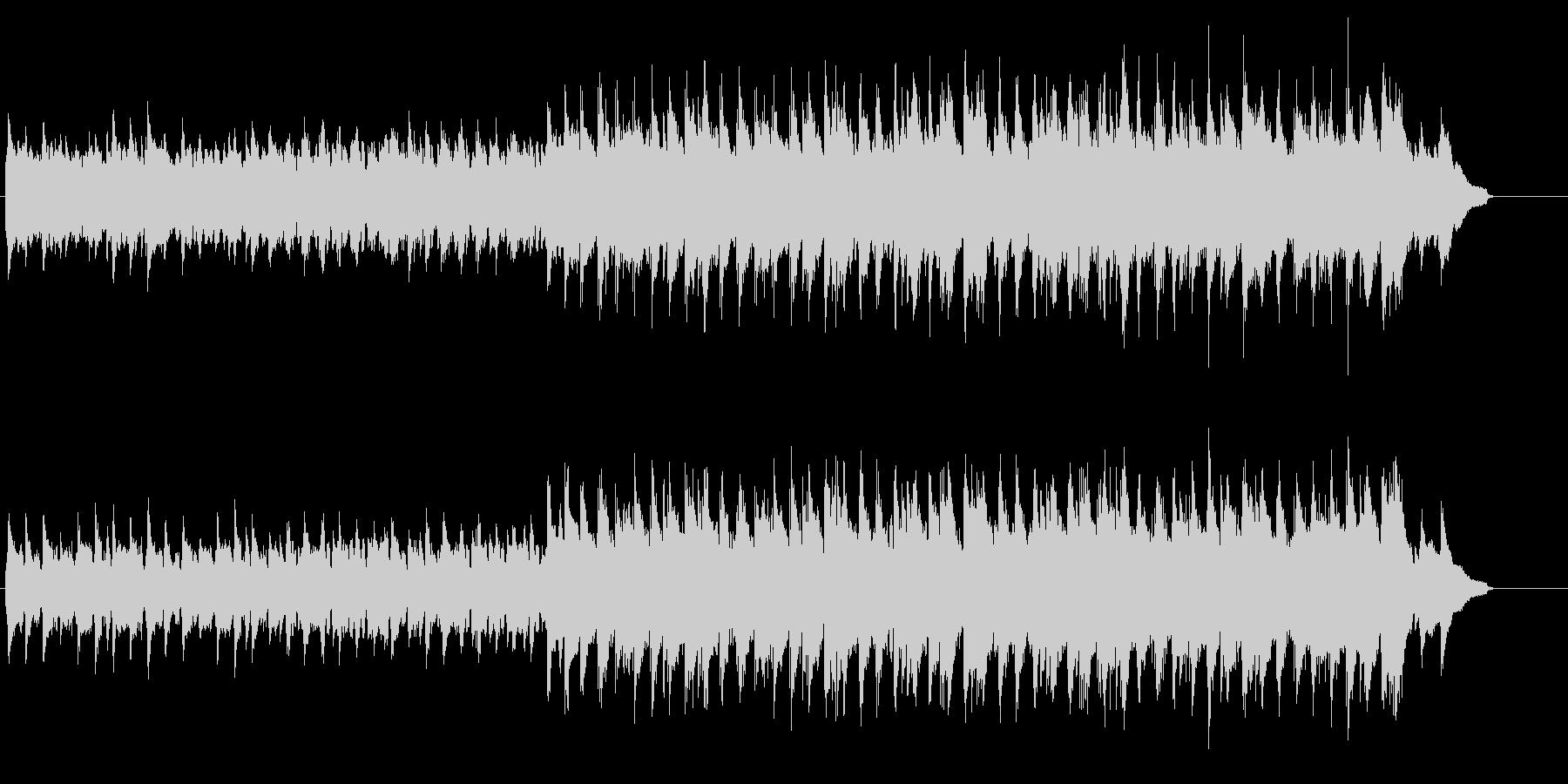 シンプルでのどかな印象のマイナーポップスの未再生の波形