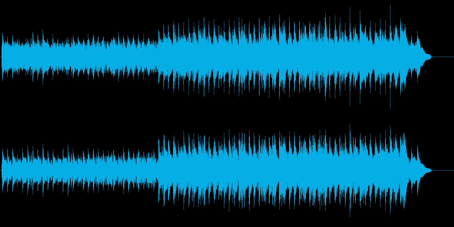 シンプルでのどかな印象のマイナーポップスの再生済みの波形