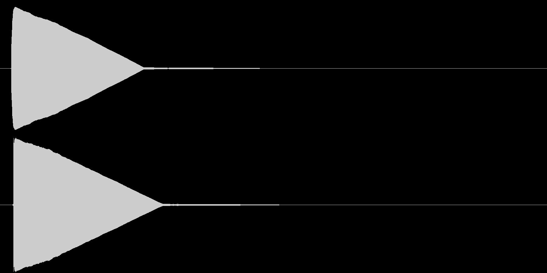 飛行機のシートベルトサイン音の未再生の波形