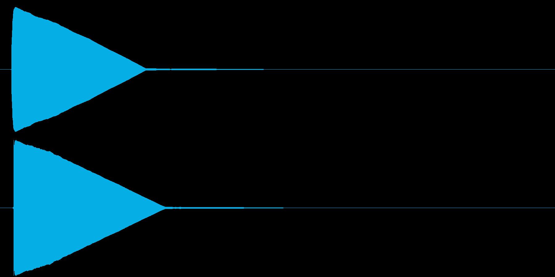 飛行機のシートベルトサイン音の再生済みの波形