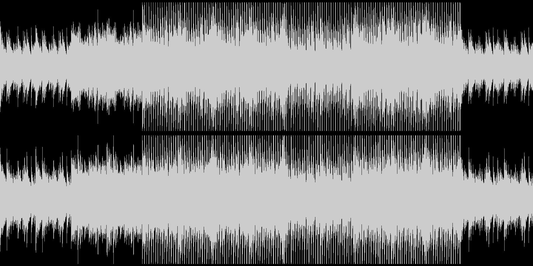 ピアノから始まるポップなクリスマスBGMの未再生の波形