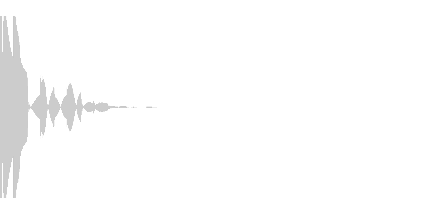 ピコン 決定音などの未再生の波形