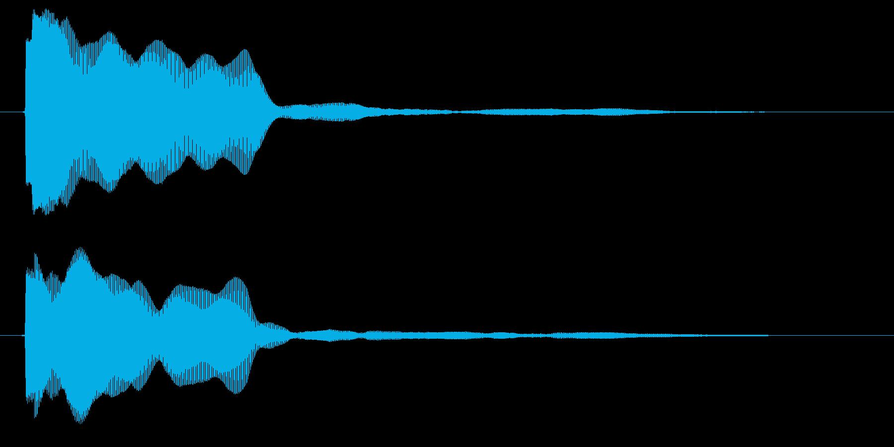 カウント ピッ ぴ 単発 探知 レーダーの再生済みの波形