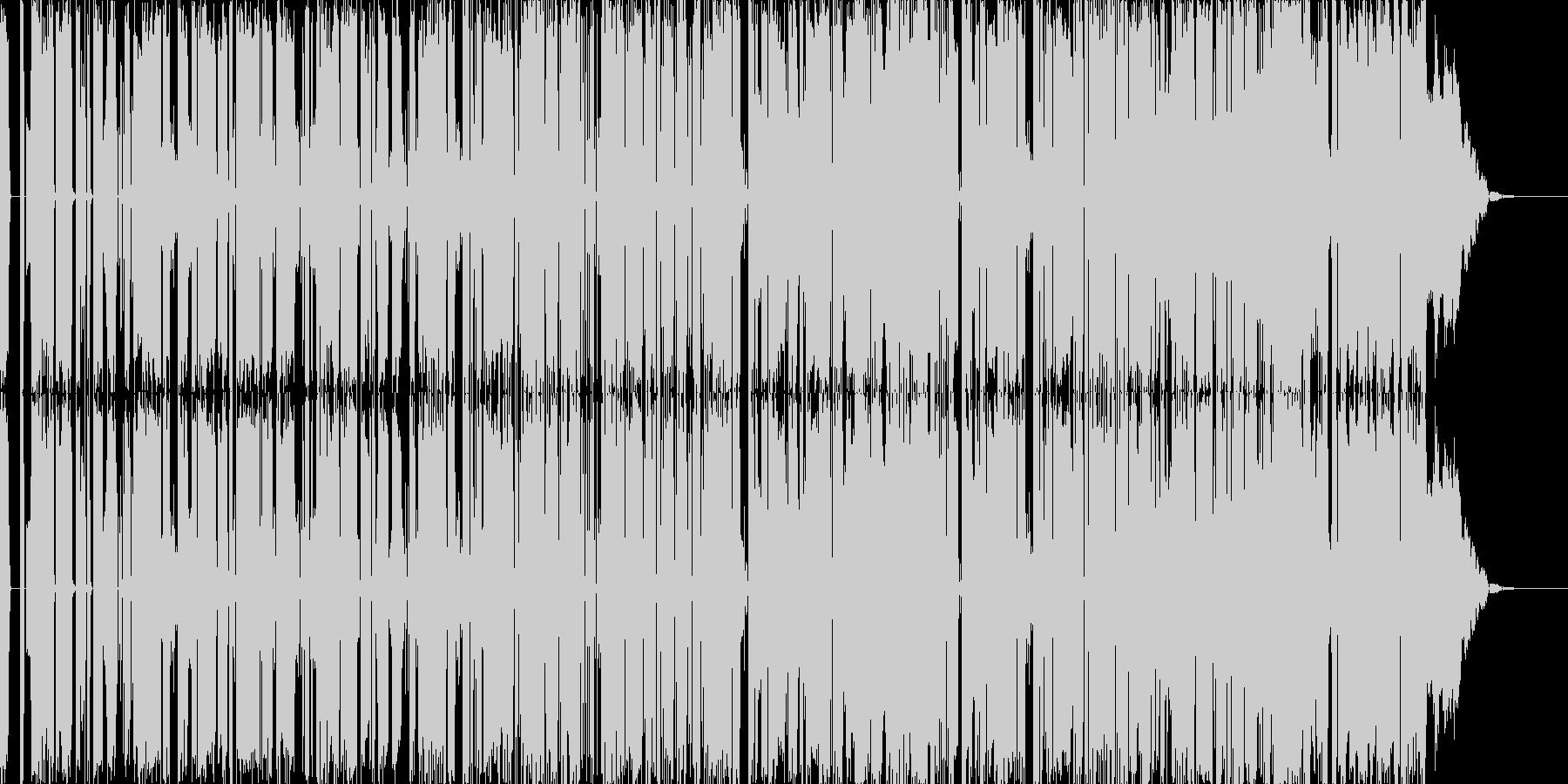 ユニークなBGMに仕上げました。の未再生の波形