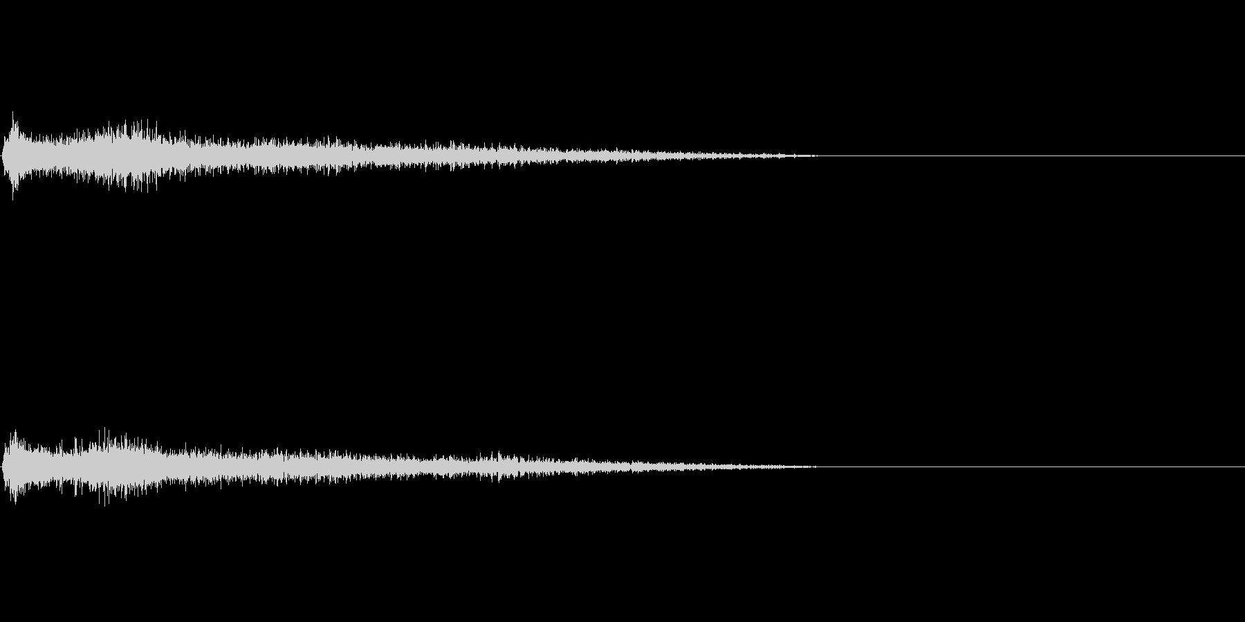 Aマイナー インパクト音 衝撃音の未再生の波形