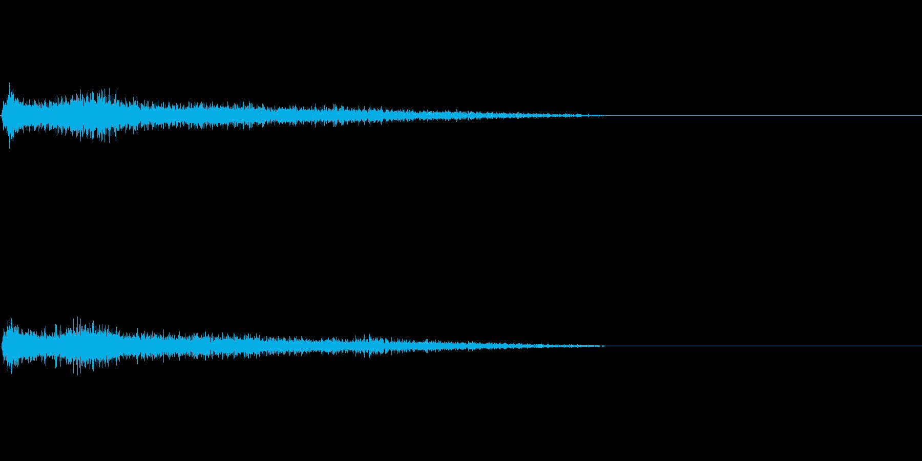 Aマイナー インパクト音 衝撃音の再生済みの波形