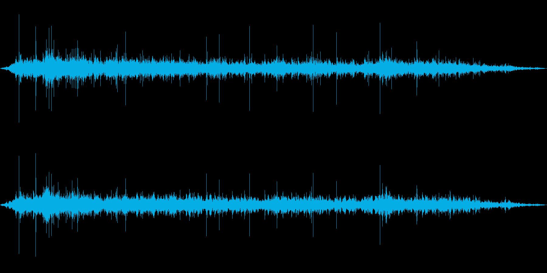 ザザザザ…茂みで何かがうごめく音の再生済みの波形