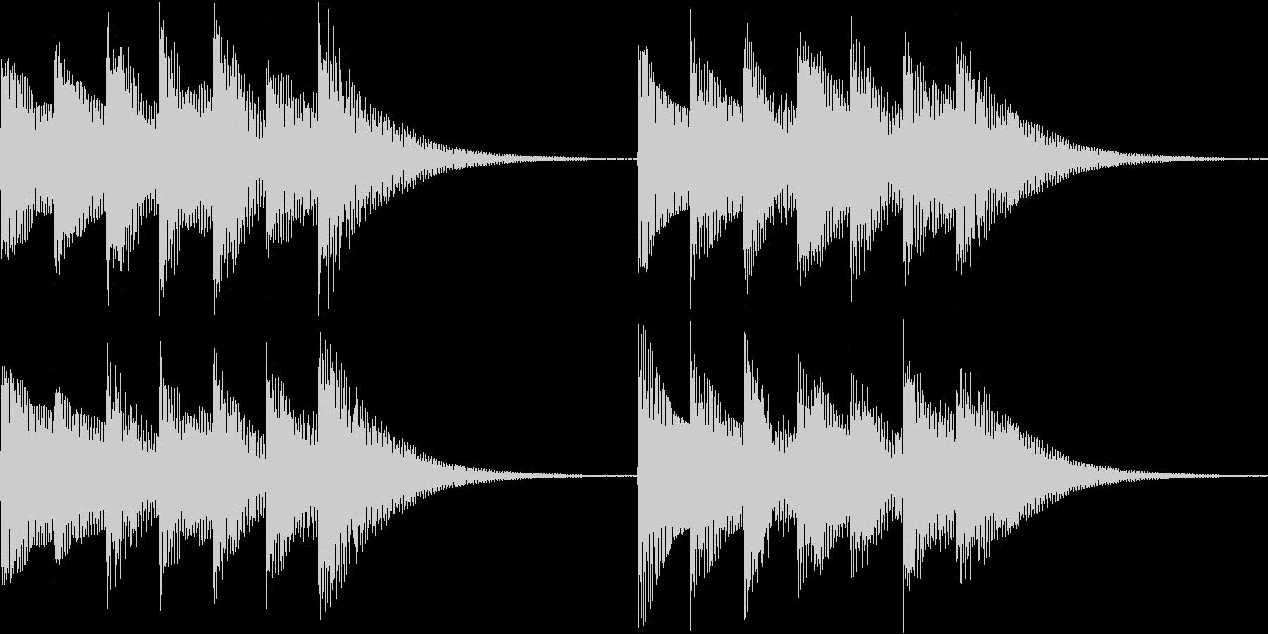 シンプルベル お知らせ ハテナ ? 05の未再生の波形