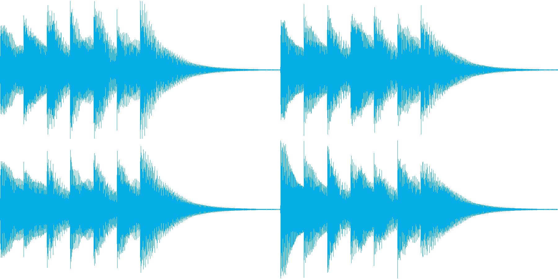 シンプルベル お知らせ ハテナ ? 05の再生済みの波形