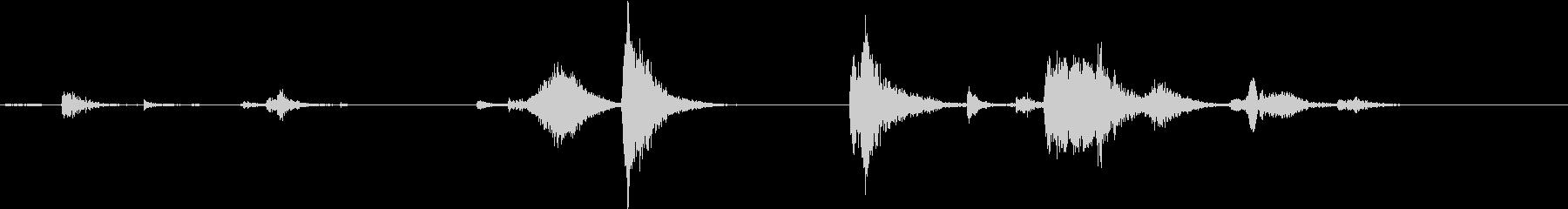 【生録音】自動販売機から飲み物を取る音の未再生の波形