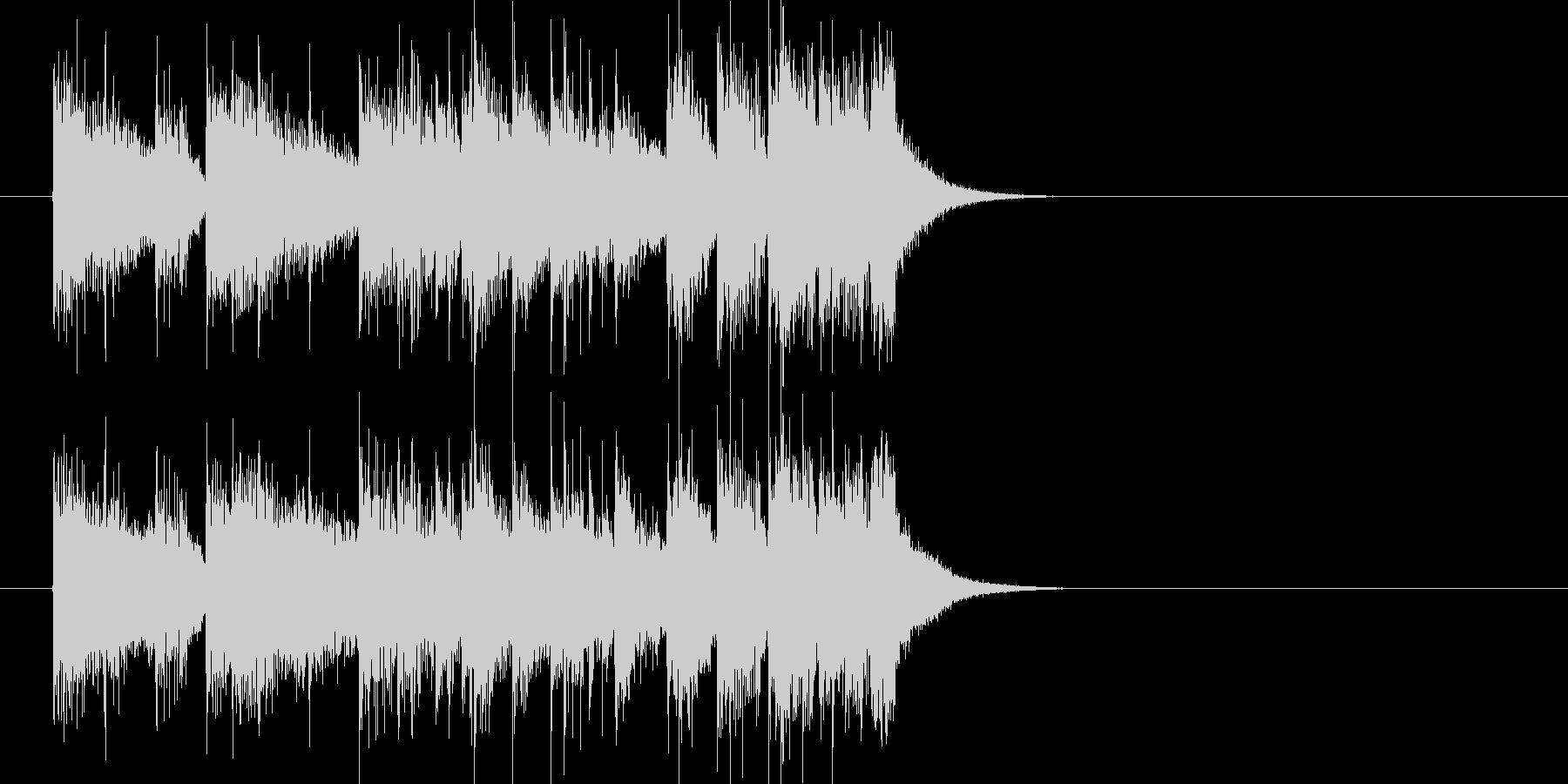 ジングル(フュージョン風)の未再生の波形