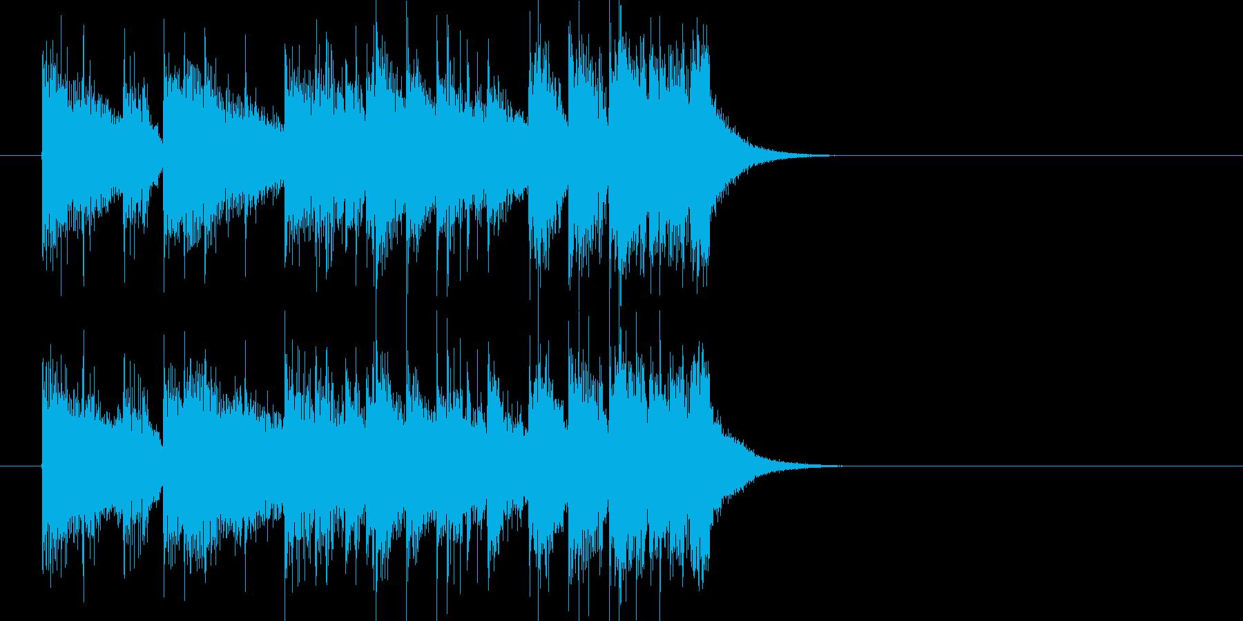 ジングル(フュージョン風)の再生済みの波形