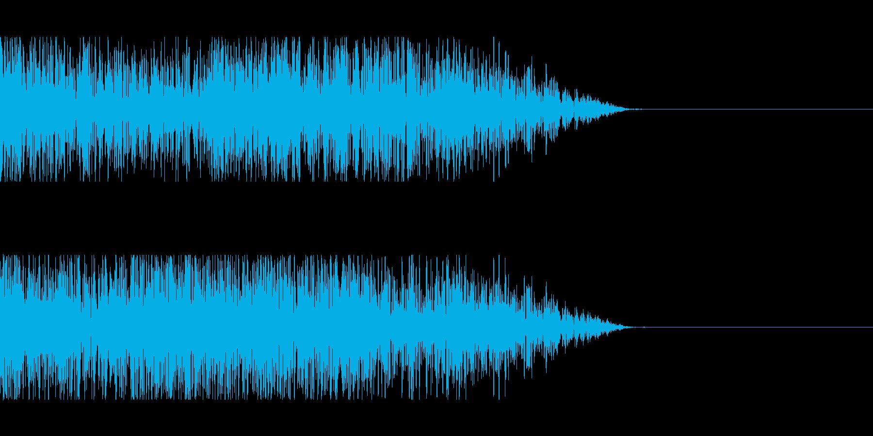 砲撃、そして着弾の再生済みの波形