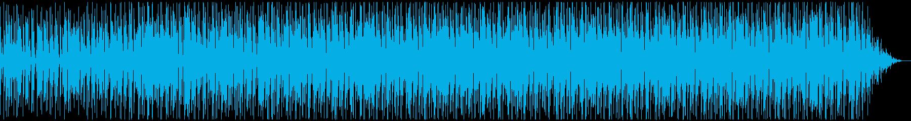 80'sディスコ風のファンキーなBGMの再生済みの波形