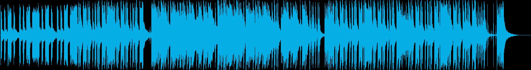 エレピとピチカートのほのぼのしたBGMの再生済みの波形