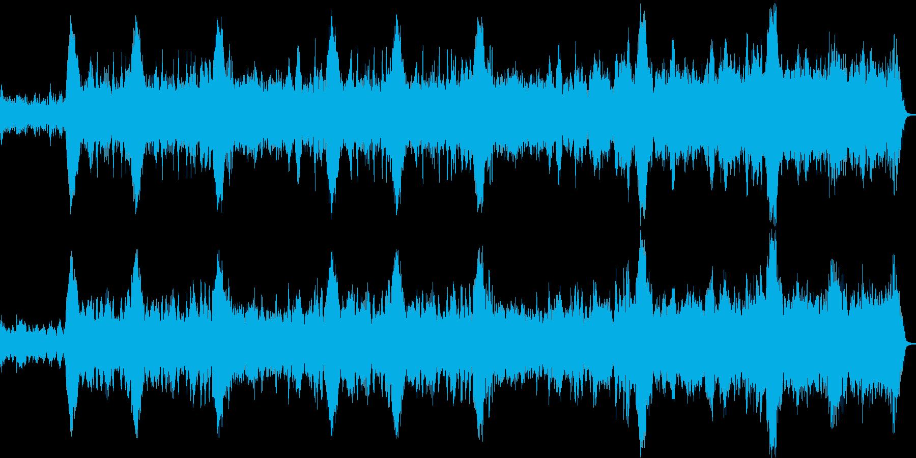 フルートとハープのノスタルジックな曲の再生済みの波形