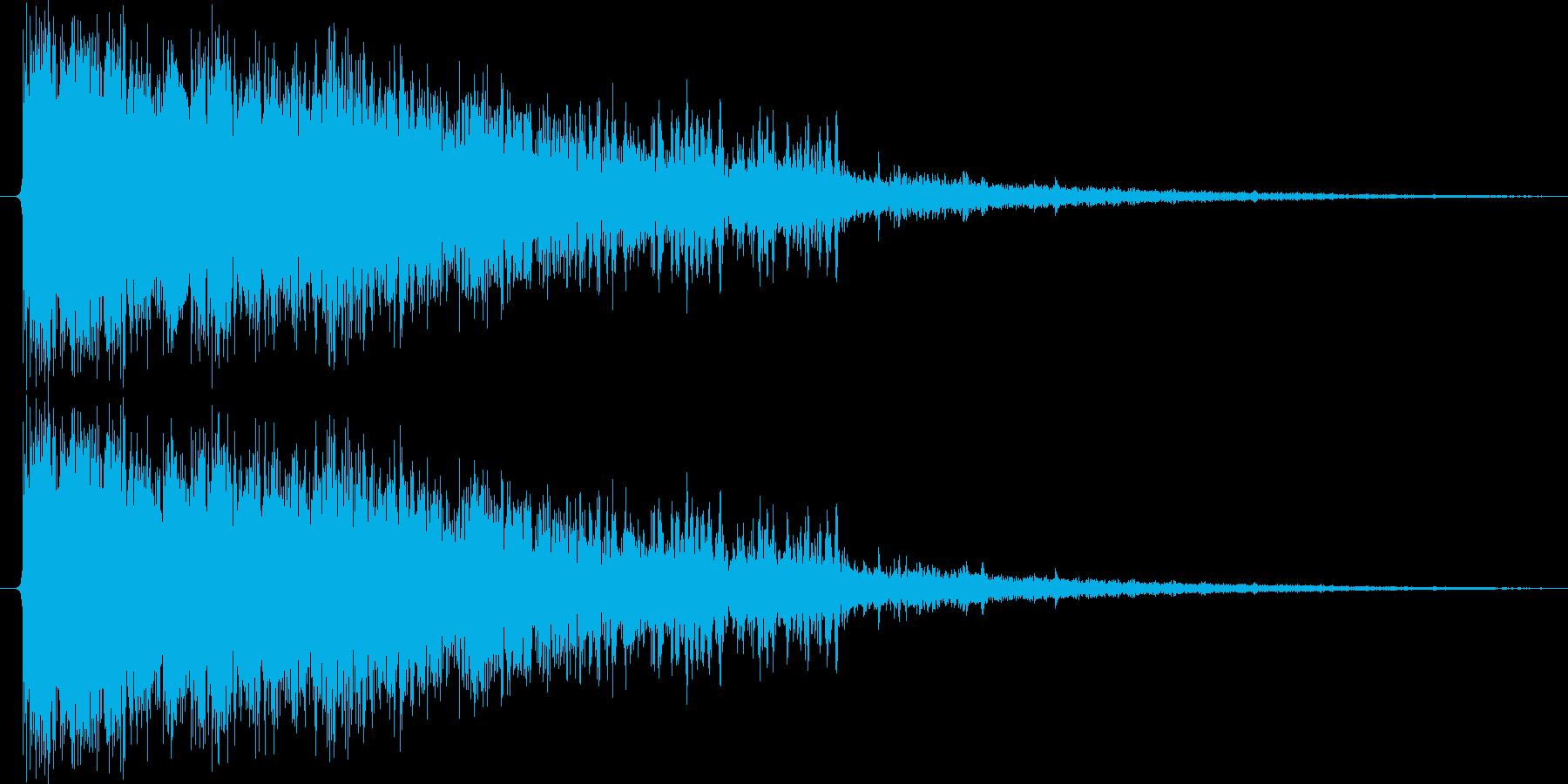 決定/ボタン押下音(上昇するイメージ)の再生済みの波形