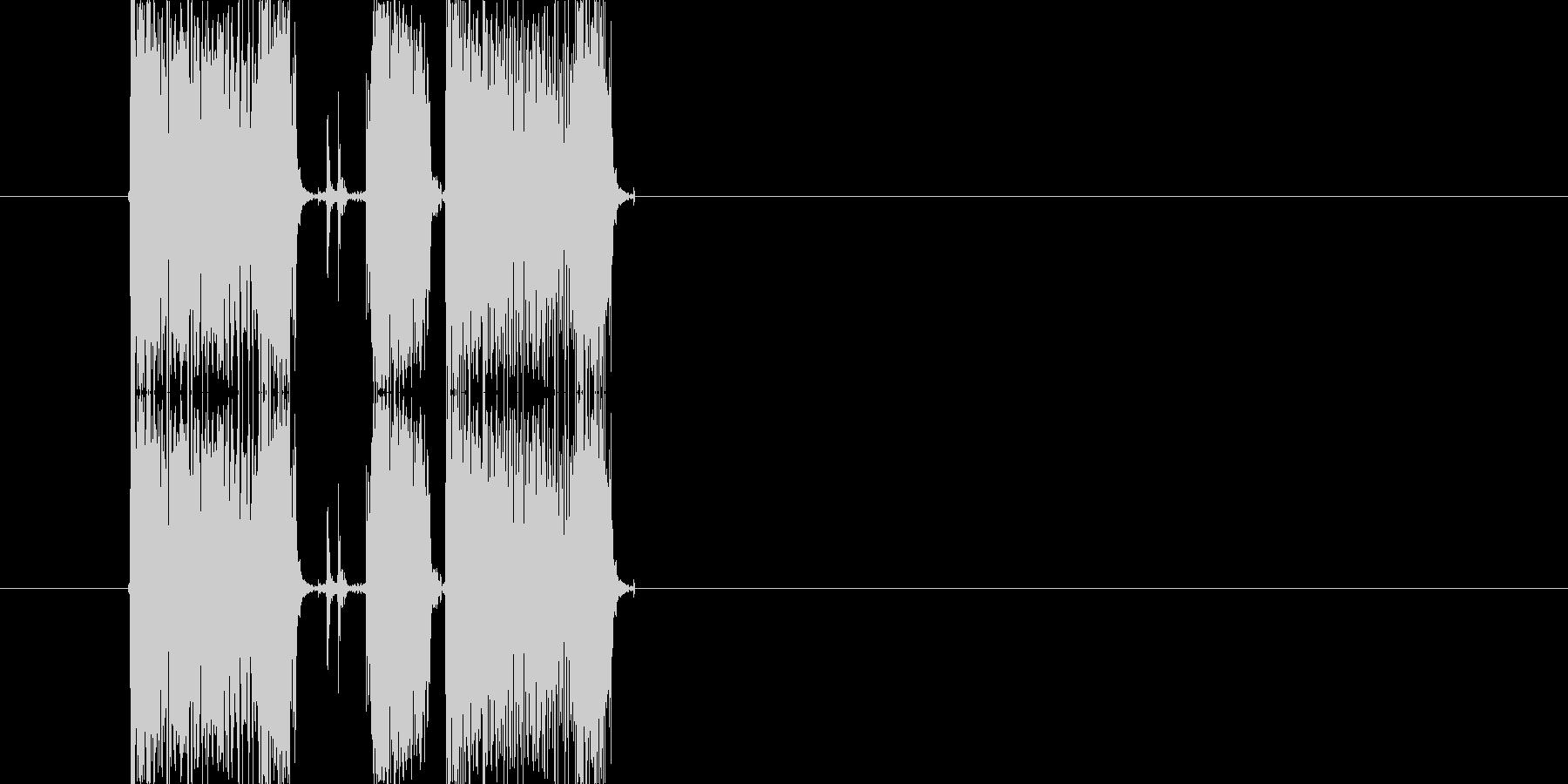 ギターフレーズ014の未再生の波形