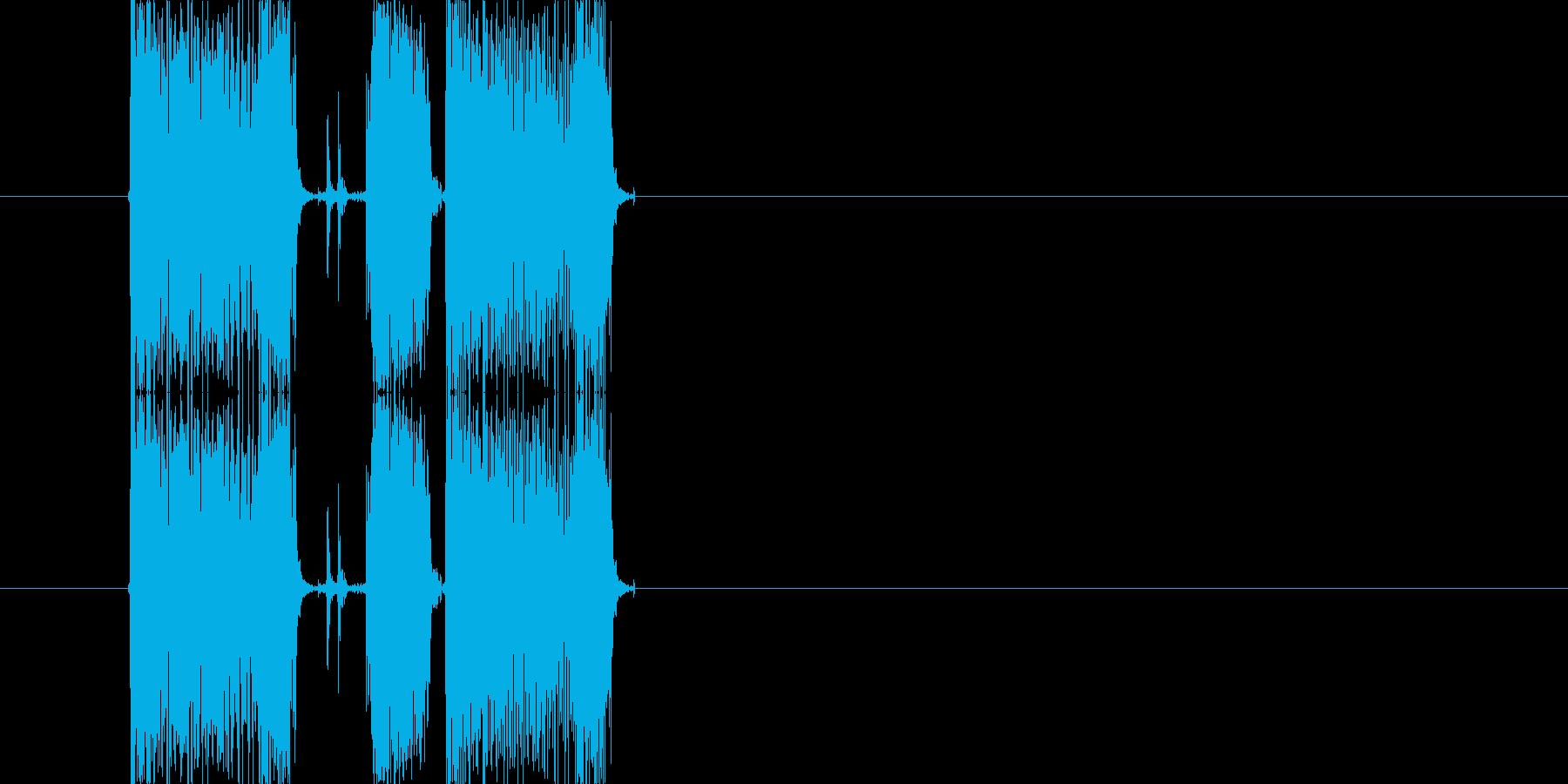 ギターフレーズ014の再生済みの波形