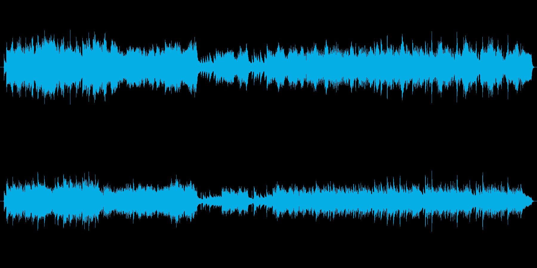 悲しみの克服を表現したピアノ曲の再生済みの波形
