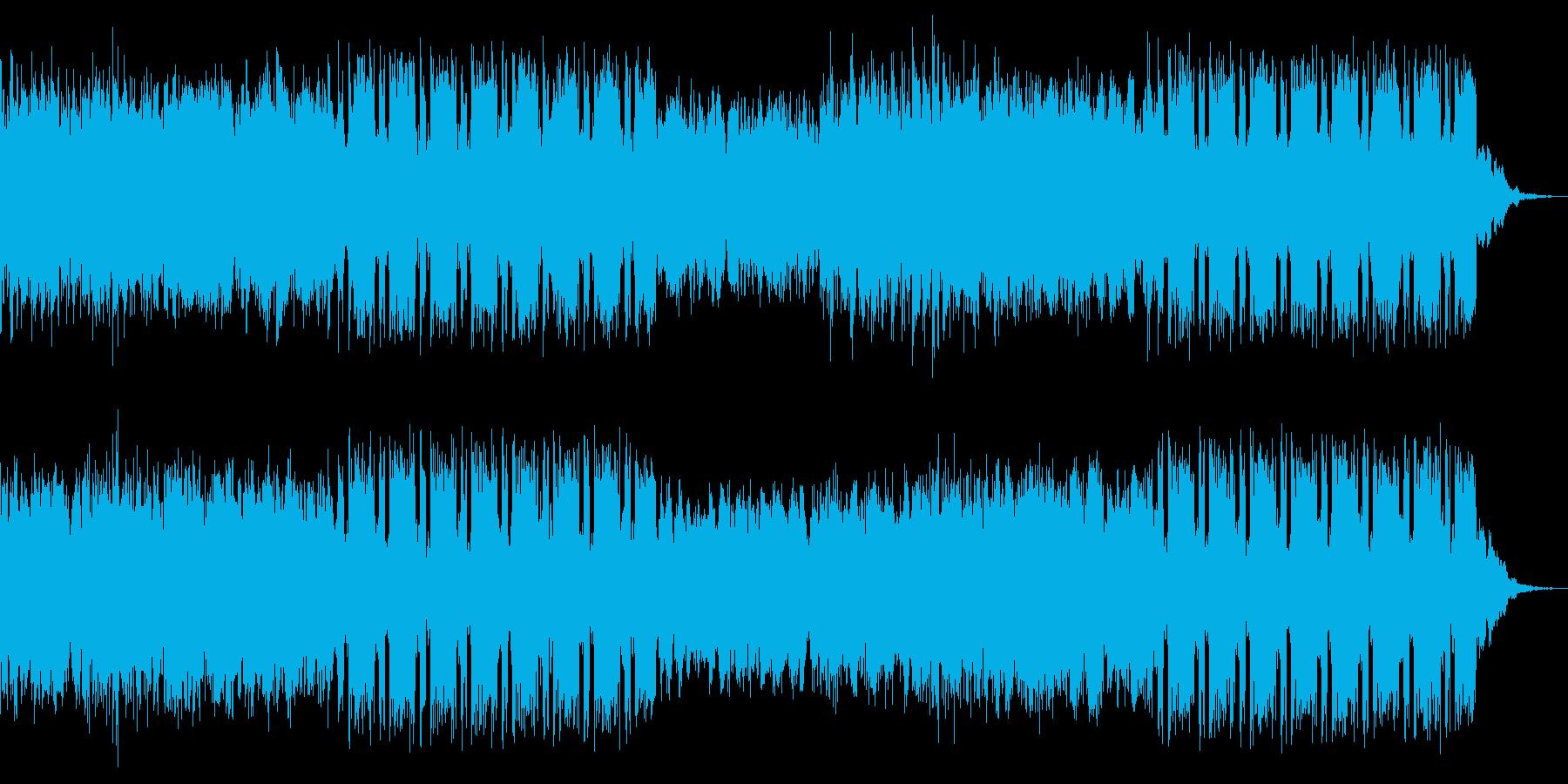破壊都市をイメージさせるシンセ音楽の再生済みの波形