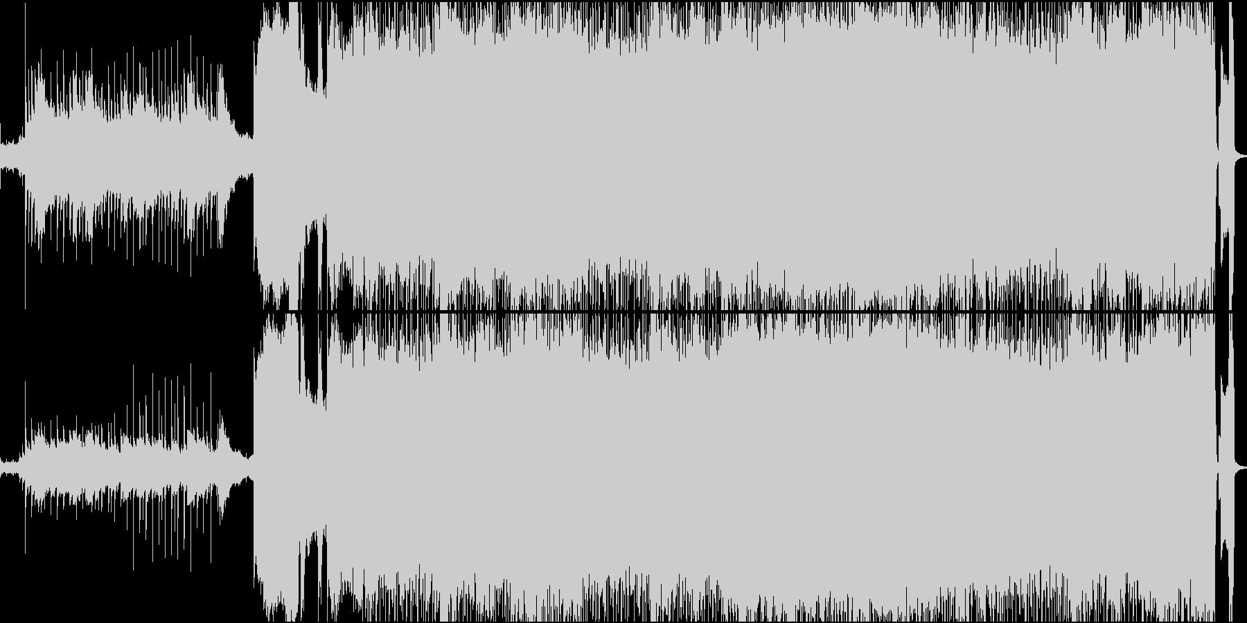 パンク感のあるロックバンドサウンドの未再生の波形
