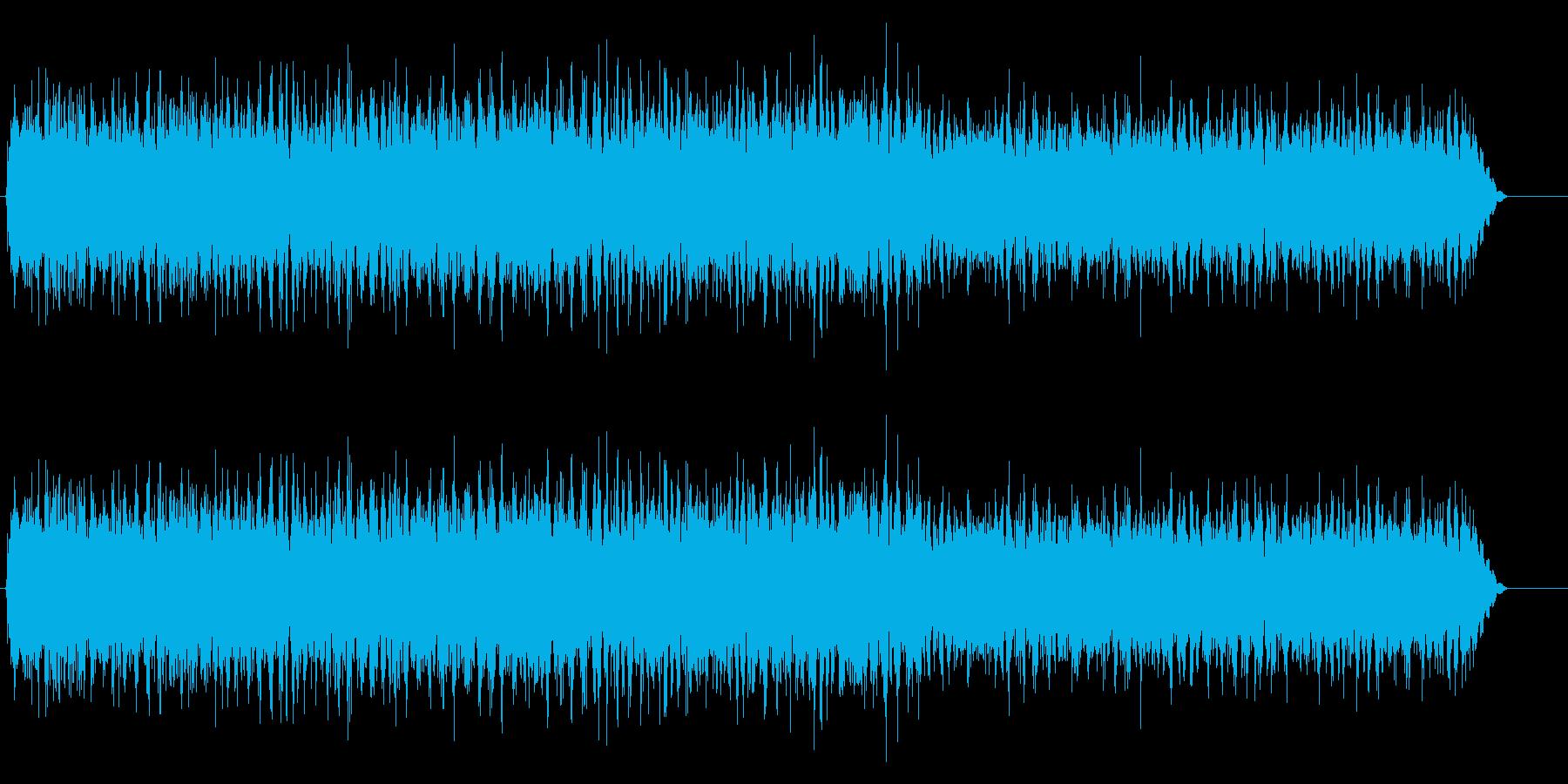 田んぼの中のカエルの鳴き声の再生済みの波形