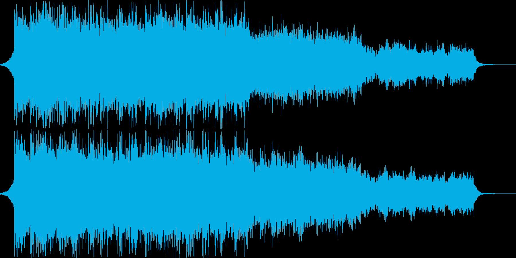 力強く浮遊感のある壮大なエレクトロの再生済みの波形