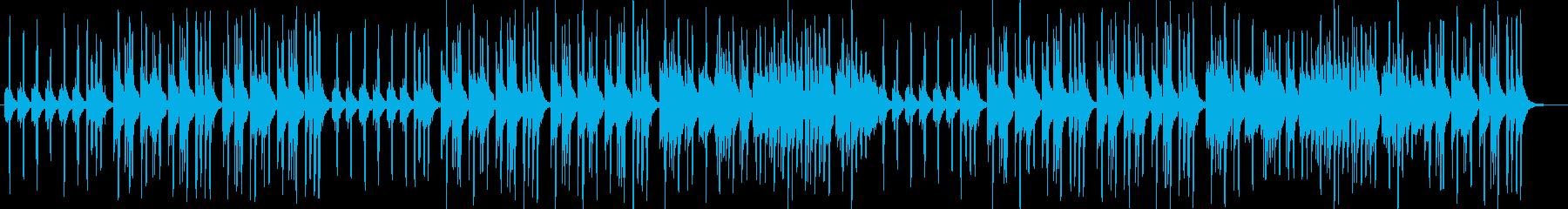 優しい音色ピアノ・オルガンサウンドの再生済みの波形