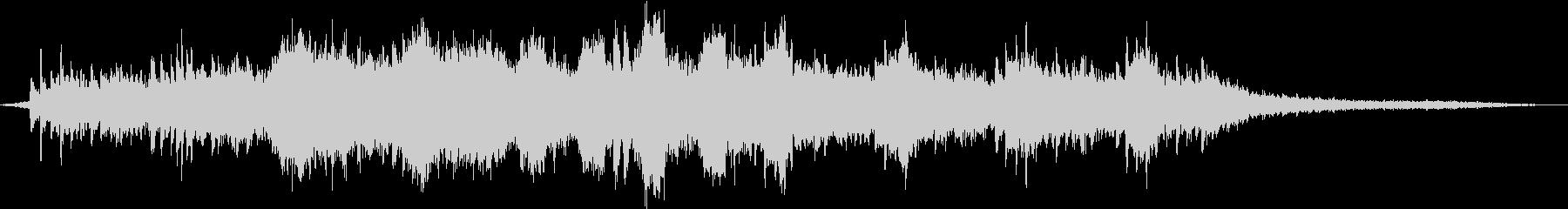 ピアノが印象的な空間系BGMの未再生の波形