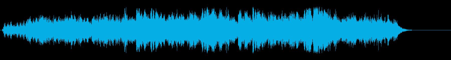 湖に月の光が青く浮かび上がる環境音楽の再生済みの波形