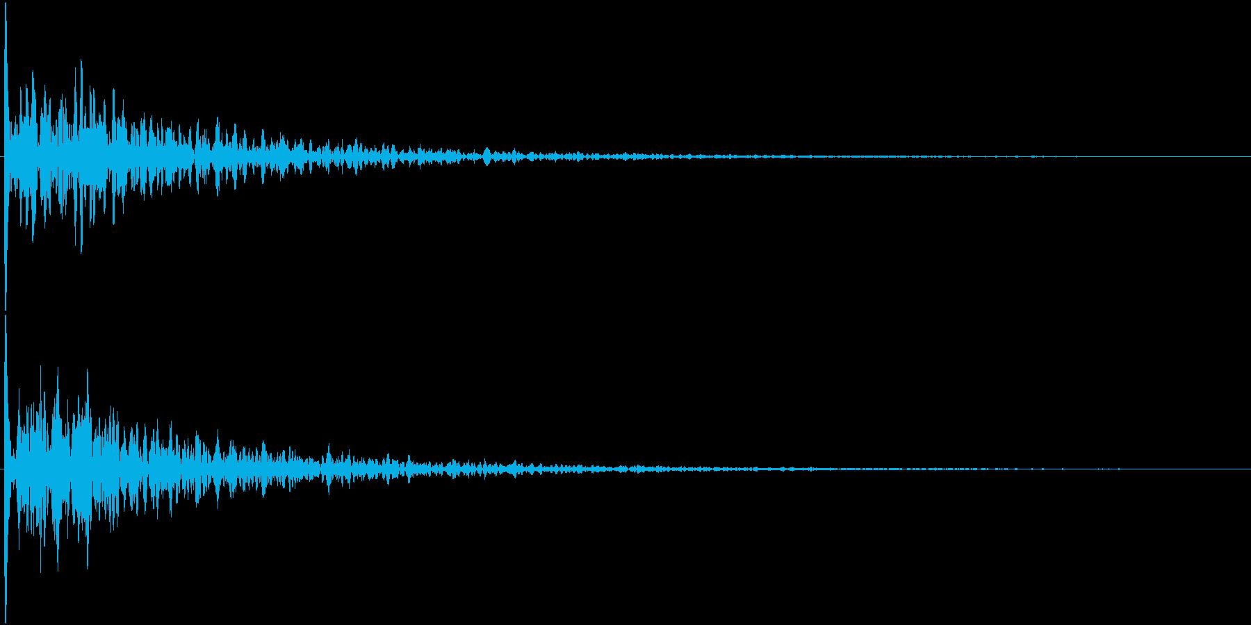 ドーン(映画予告のあの音)の再生済みの波形