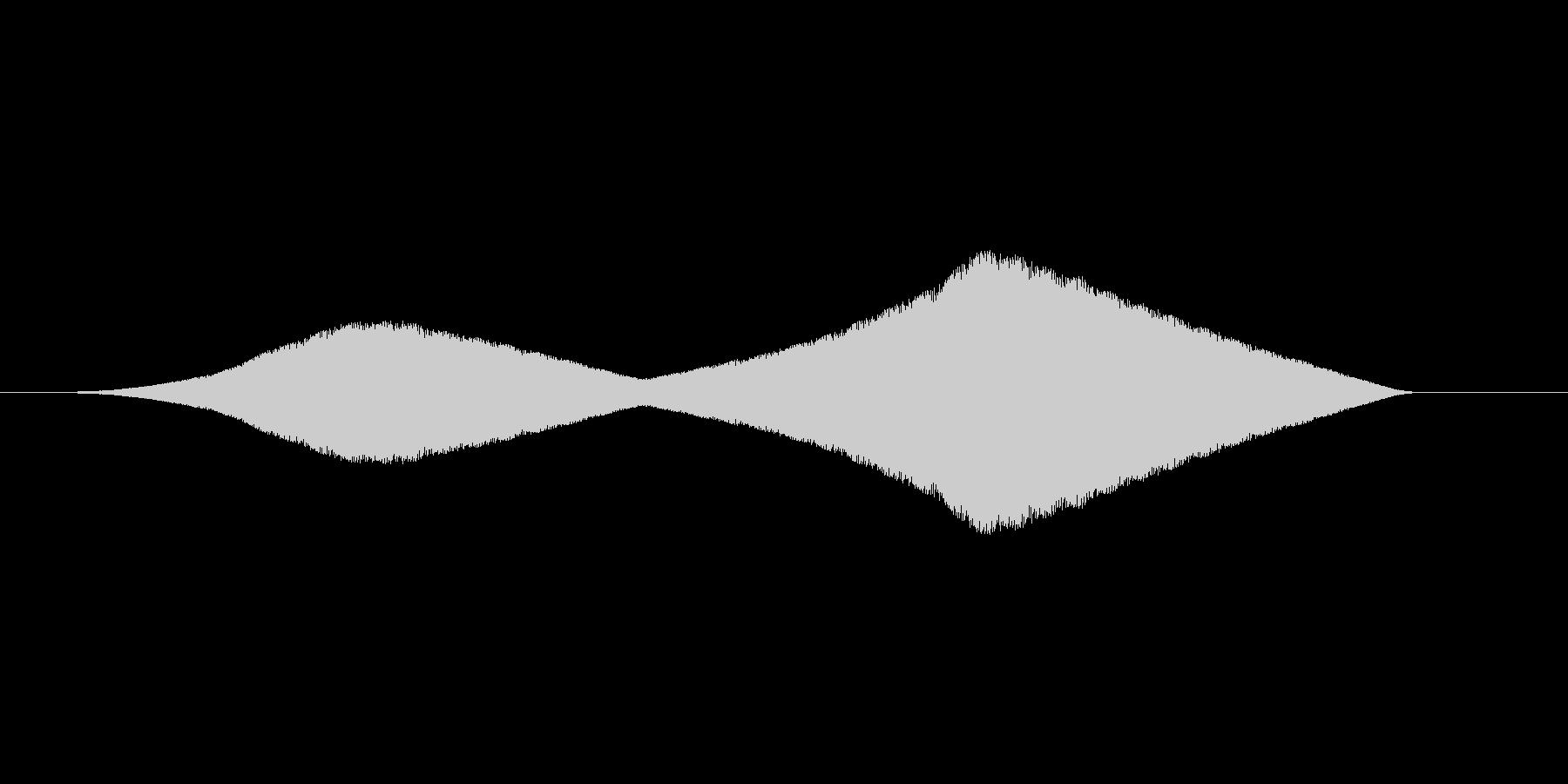 キーン(嫌な予感、虫の飛行音、ブーン)の未再生の波形