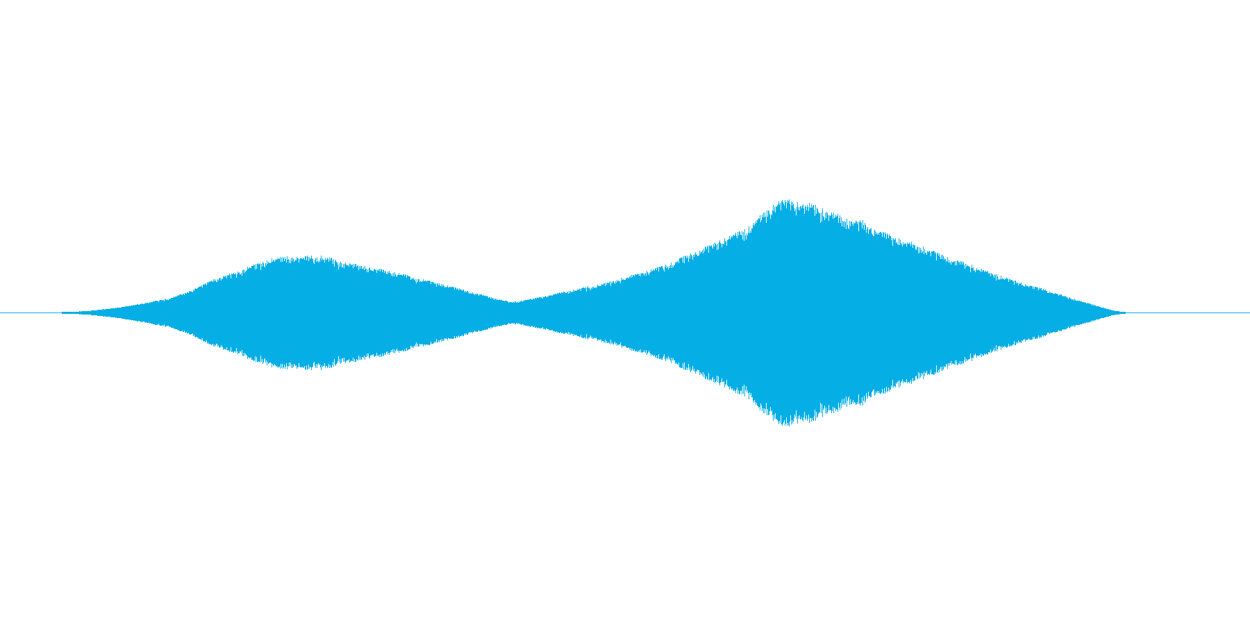 キーン(嫌な予感、虫の飛行音、ブーン)の再生済みの波形
