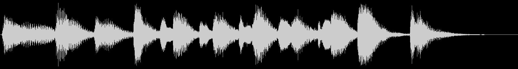ラグタイムピアノの未再生の波形
